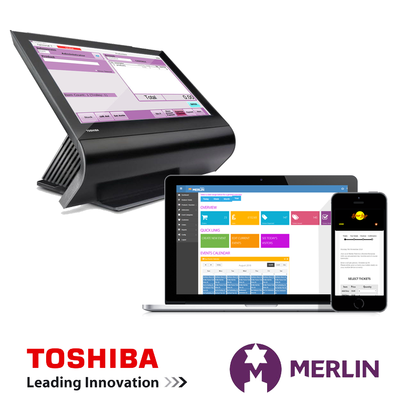 EPOS till and laptop with Merlin Online